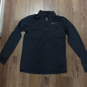 Men's Nike,charcoal gray quarter zip long sleeve